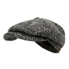 Stetson Hats Stetson Hatteras Herringbone WV Blue Newsboy Cap