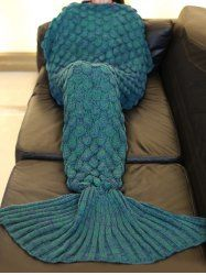 Fashion 2016 Fish Scale Tail Shape Sleeping Bag Mermaid Design Knitting Blanket