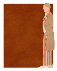 Doctor Who minimalist: Peter Davison #DoctorWho #PeterDavison #Whovian #SciFi #SmallScreen #TV #art