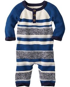 Stripey Sweater Romper from #HannaAndersson.