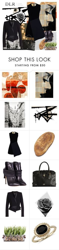 """DLR contest with prize"" by carola-corana ❤ liked on Polyvore featuring Tourne, The Artwork Factory, Maxwell Dickson, FAUSTO PUGLISI, Sur La Table, Casadei, Coach, Alexandre Vauthier, Blue Nile and dlr"