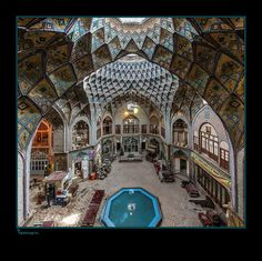 Sadegh Miri Saraye Aminoldoleh-Kashan Bazaar, Iran Canon 1DS markIII EF15mm F2.8 Fisheye