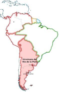 Map of Viceroyalty of the Río de la Plata / Mapa del Virreinato del Río de la Plata