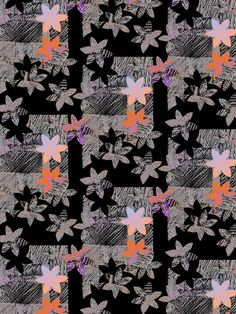 A pattern a day, woodcut flowers. Louise
