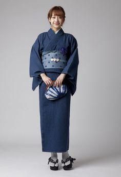 【BLUE BLUE JAPAN】デニム着物 ウイメンズ