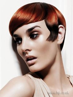 2009 redhead short hairstyle        Hairstyle by: Damien Carney for Joico