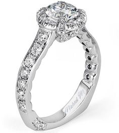 From Michael M. Collection Michael M Handcrafted pave and u -set diamond ring...my dream ring
