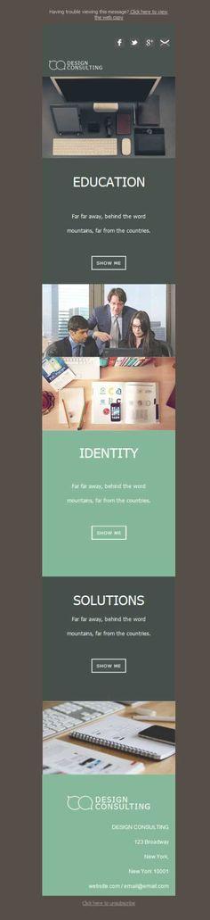 ¿Cómo dices? ¿Que aún no tienes plantilla de newsletter para tu consultoría? Mailify te ha diseñado una que seguro que te encantará. Y con versión responsive... ¡Genial!