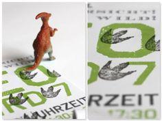 Dinogeburtstag, Einladung Dinoparty www.pickposh.de