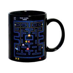 Taza Pac-Man Pac Man, Mugs, Tableware, Fill, Kitchen, Calla Lilies, Breakfast Bowls, Classic Video Games, Presents