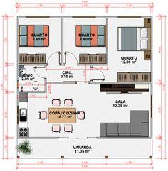planta de casa com varanda - Pesquisa Google