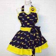 University of Michigan / Flirty Sexy Cute Apron / by MyCottonKandy
