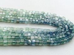 Fluorite Beads Aqua Green Fluorite Plain Box by gemsforjewels