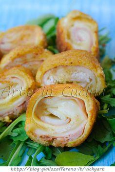 Rotolini di pancarre fritti con zucchine