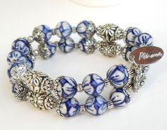 delft+blue+bracelet+delft+blue+jewelry+Delft+Holland+by+minouc,+€23.50