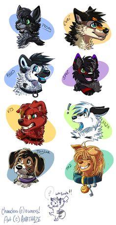 Prismy, Cani, Atlas, Spec, V.T.S, Keza, Taylor, and Paz
