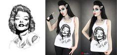 Zombie Marilyn Monroe by Euflonica
