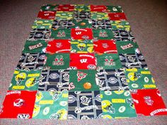 Quilt Talk: Next Project - Fleece Blanket  Cody's Christmas quilt idea, pieces of all he loves.