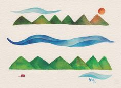 """Road Trip by Yas Doctor - From $50. You will get an 8"""" x 10"""" size art print on museum quality archival paper. More options available at www.projectartshack.com #watercolor #painting"""