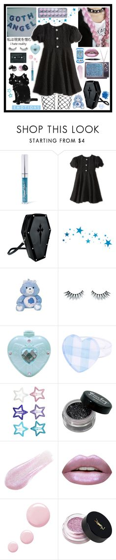 """Gothic Angel"" by pastelprincess152 ❤ liked on Polyvore featuring Mermaid Salon, Gosh, Dolce&Gabbana, Napoleon Perdis, Maybelline, Hello Kitty, H&M, Lipstick Queen, Huda Beauty and Topshop"