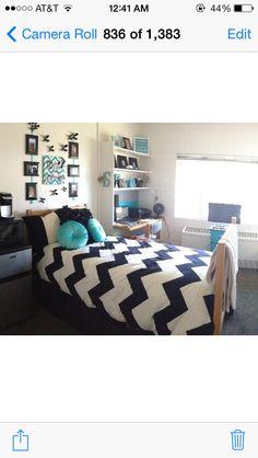 Chevron dorm room