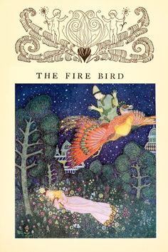 The Fire Bird from Edmund Dulac's Fairy Book