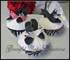 Designer High Heel Shoes Cupcakes