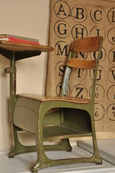 School Desk (always liked the built in book storage)