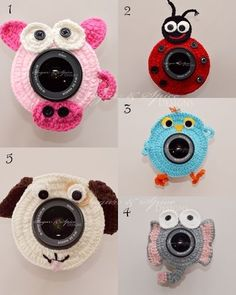 Newborn Baby Children Crochet Camera Lens Buddies Friends Photo Photography Prop