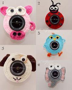 Newborn Baby Children Crochet Camera Lens Buddies Friends Photo Photography Prop