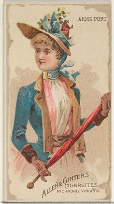 Allen & Ginter   Arms Port, from the Parasol Drills series (N18) for Allen & Ginter Cigarettes Brands   The Met