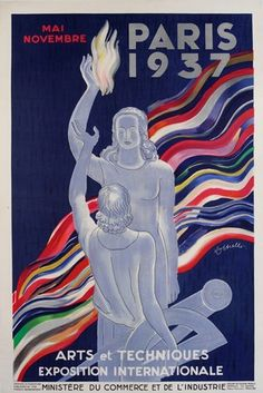 Poster for the Exposition Internationale Paris 1937, colour lithograph by Leonetto Cappiello, 1937. Museum no. E.286-2006