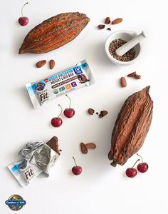 Chocolate, cherries and protein. Win, win and win. Enjoy the latest flavor of our Fit Protein Bar family–a tasty on-the-go snack high in protein and made from whole food non-GMO ingredients. High Protein Snacks, Protein Bars, High Protein Powder, Garden Of Life Vitamins, Green Coffee Bean Extract, On The Go Snacks, Plant Protein, Cherries, Whole Food Recipes