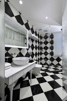 Appealing Black And White Bathrooms Chess Black And White Bathroom  Decorating Black And White Black And Part 73