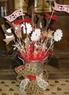 images of kids rodeo ideas Western Party Centerpieces, Western Table Decorations, Cowboy Party Decorations, Mason Jar Centerpieces, Baby Shower Decorations, Banquet Decorations, Centerpiece Ideas, Rodeo Party, Cowboy Theme Party