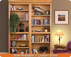 Woodfold Custom Bookcase Doors - Bifold bookcase hidden doors.