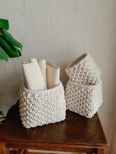 Items similar to set of 3 cotton storage baskets macrame storage basket macrame interior basket New Home HouseWarming Gift baskets for home Mother's Day gift on Etsy Housewarming Gift Baskets, Housewarming Wishes, Small Storage, Storage Baskets, Cotton Textile, House Gifts, Macrame Projects, Decoration, House Warming