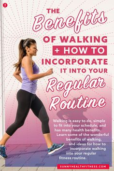While there are so many ways to exercise, few are as convenient as walking! Walking is easy to do, simple to fit into your schedule, and has many health benefits. Read on to learn some of the wonderful benefits of walking, and ideas for how to incorporate walking into your regular fitness routine. #sunnyhealthfitness #walking #walkingfroutine #fitnessroutine #walkingbenefits
