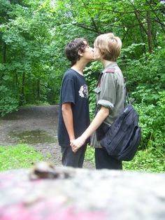 young kissing Sweet boys