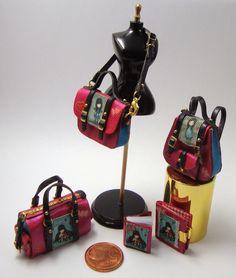 Miniaturas bolsos: Bolsos con ilustraciones de dibujos