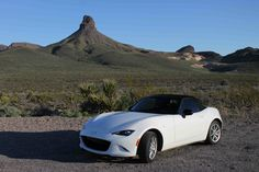 This BLM pullout near Kingman, Arizona on Route 66 seemed like a good place for a photo! #mx5 #mazda #carlove