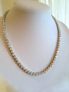 Vintage Sterling Silver Diamond Estate Jewelry Necklace by WOWTHATSBEAUTIFUL