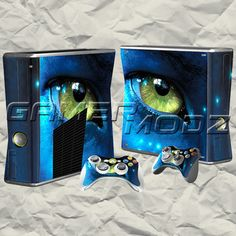 Avatar XBOX 360 Skin Set - Console with 2 Controllers