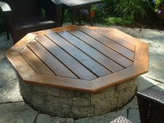 Teak Fire pit cover/Table