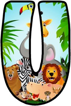 "Képtalálat a következőre: ""party safari"" Alfabeto Animal, Jungle Party, Safari Party, Jungle Theme Classroom, Classroom Themes, Safari Theme Birthday, Scrapbook Letters, Cute Letters, Alphabet And Numbers"