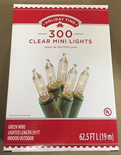 Holiday Time 300 Mini Clear Christmas Lights Holiday Time