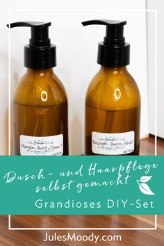 Du möchtest Dusch- Soap, Personal Care, Bottle, Diy Hair Care, Homemade Cosmetics, Soaps, Medicinal Plants, Organic Beauty, Health