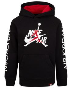 Jordan Little Boys Nike Air-Print Hoodie - Black Ulzzang Girl Fashion, Vetement Hip Hop, Dope Outfits For Guys, Mens Sweatshirts, Boys Hoodies, Plus Size Shopping, Boys Nike, Nike Outfits, Personalized T Shirts