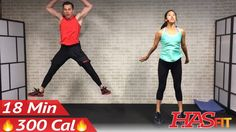 18 Min HIIT Cardio Workout No Equipment at Home - Full Body HIIT Home Wo...