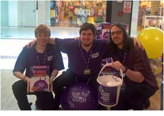 Here is our Worcester team getting into the Gosh fundraising spirit!